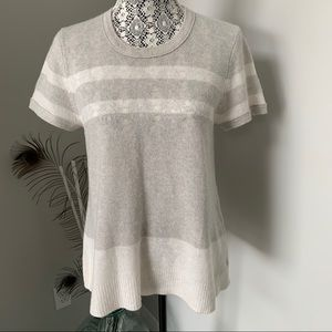 JAMES PERSE Cashmere Sweater Grey and Off White L